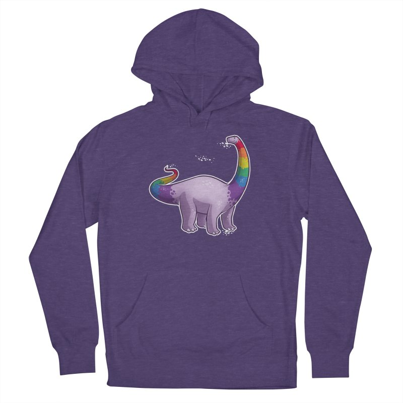 Brontosaurus Pride Women's French Terry Pullover Hoody by Marty's Artist Shop