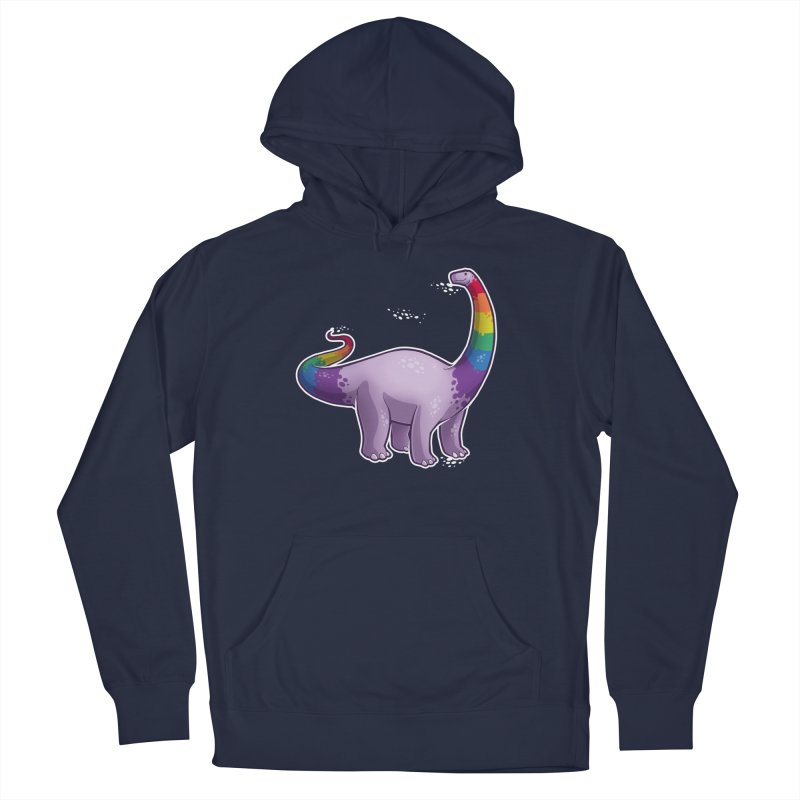 Brontosaurus Pride Men's French Terry Pullover Hoody by Marty's Artist Shop