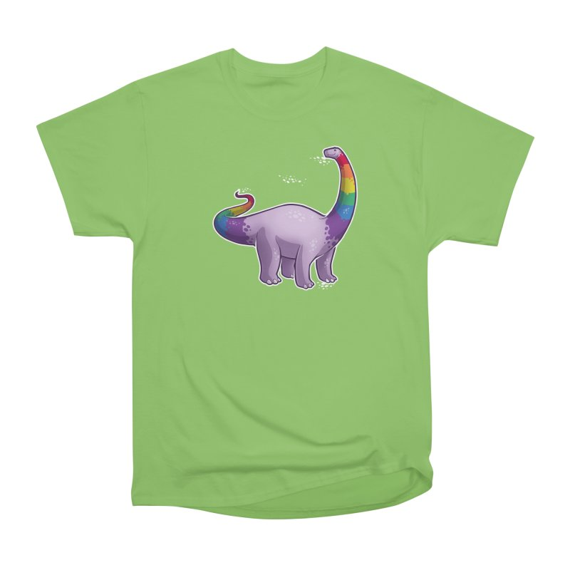 Brontosaurus Pride Women's Heavyweight Unisex T-Shirt by Marty's Artist Shop
