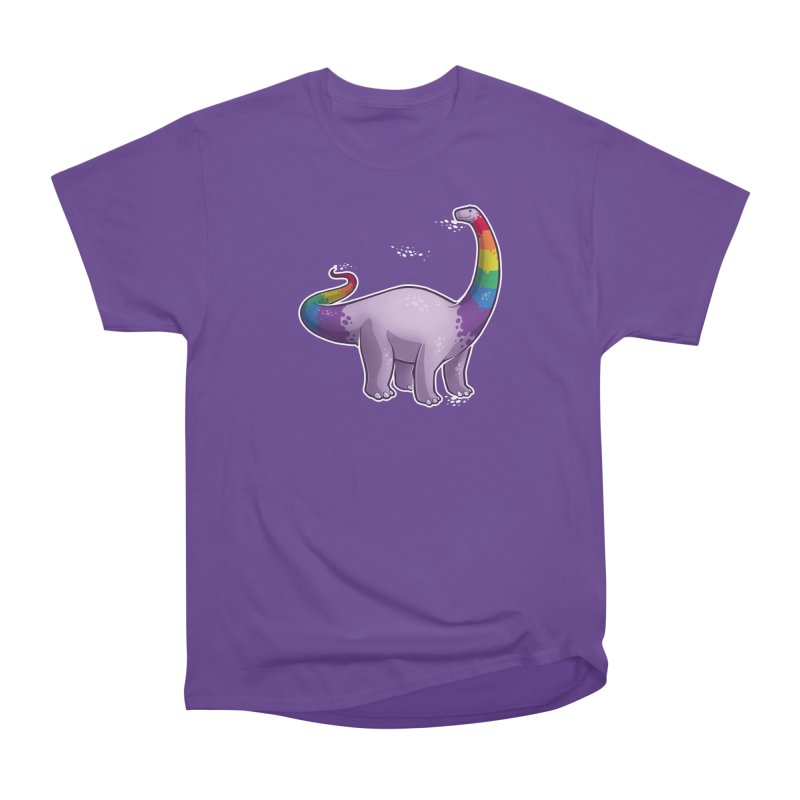Brontosaurus Pride Men's Heavyweight T-Shirt by Marty's Artist Shop