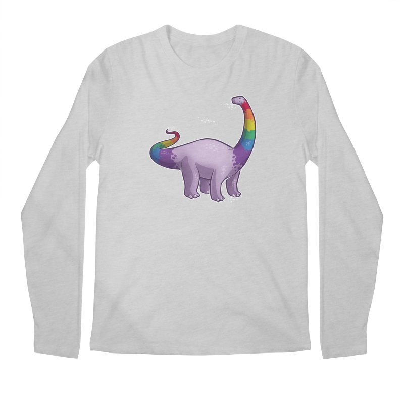 Brontosaurus Pride Men's Regular Longsleeve T-Shirt by Marty's Artist Shop
