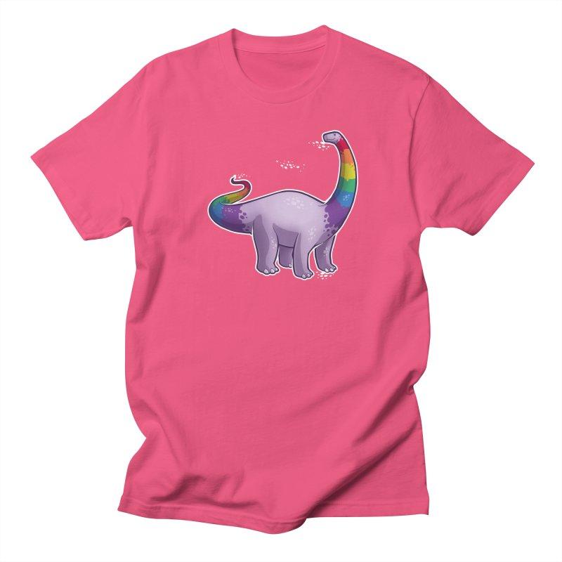 Brontosaurus Pride Men's Regular T-Shirt by Marty's Artist Shop