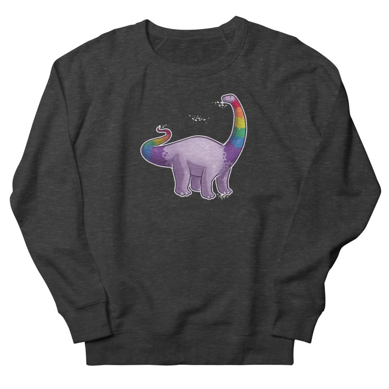 Brontosaurus Pride Men's French Terry Sweatshirt by Marty's Artist Shop