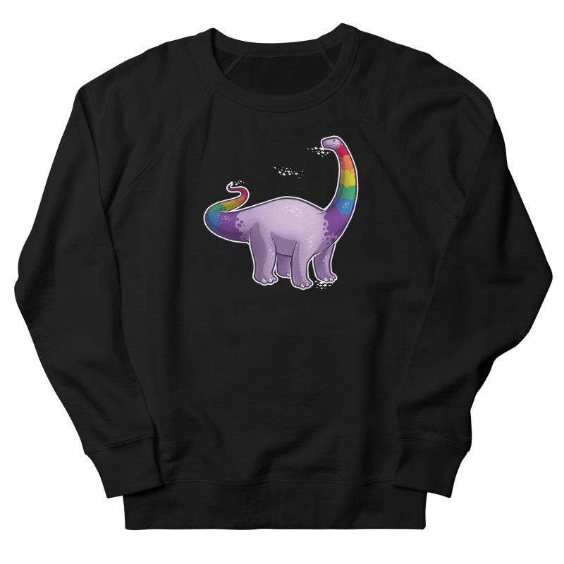 Brontosaurus Pride Men's French Terry Sweatshirt by Marty's Artist Shop
