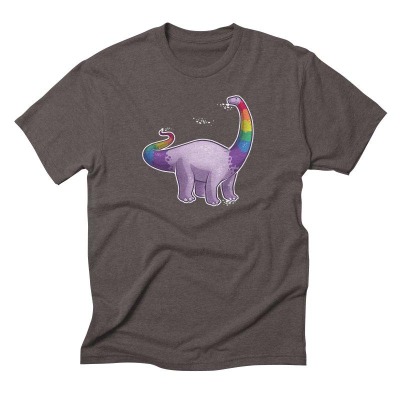 Brontosaurus Pride Men's Triblend T-Shirt by Marty's Artist Shop