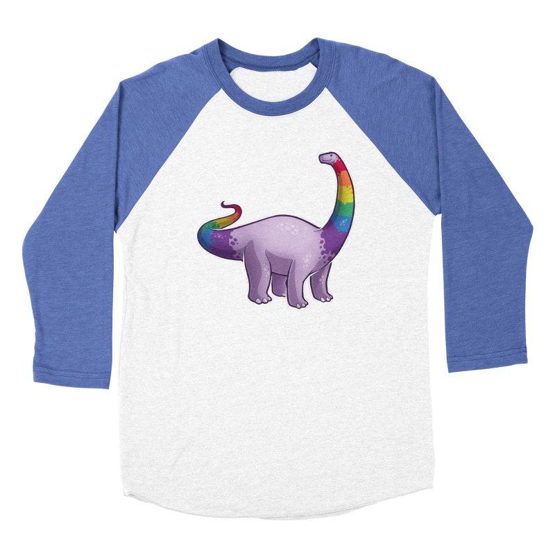 Brontosaurus Pride Men's Baseball Triblend Longsleeve T-Shirt by Marty's Artist Shop
