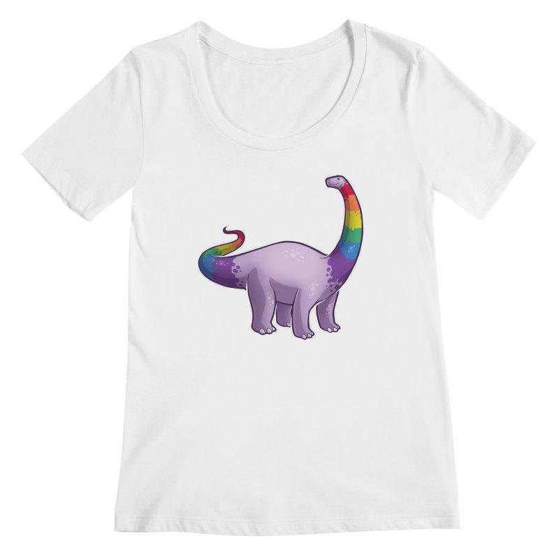 Brontosaurus Pride Women's Regular Scoop Neck by Marty's Artist Shop