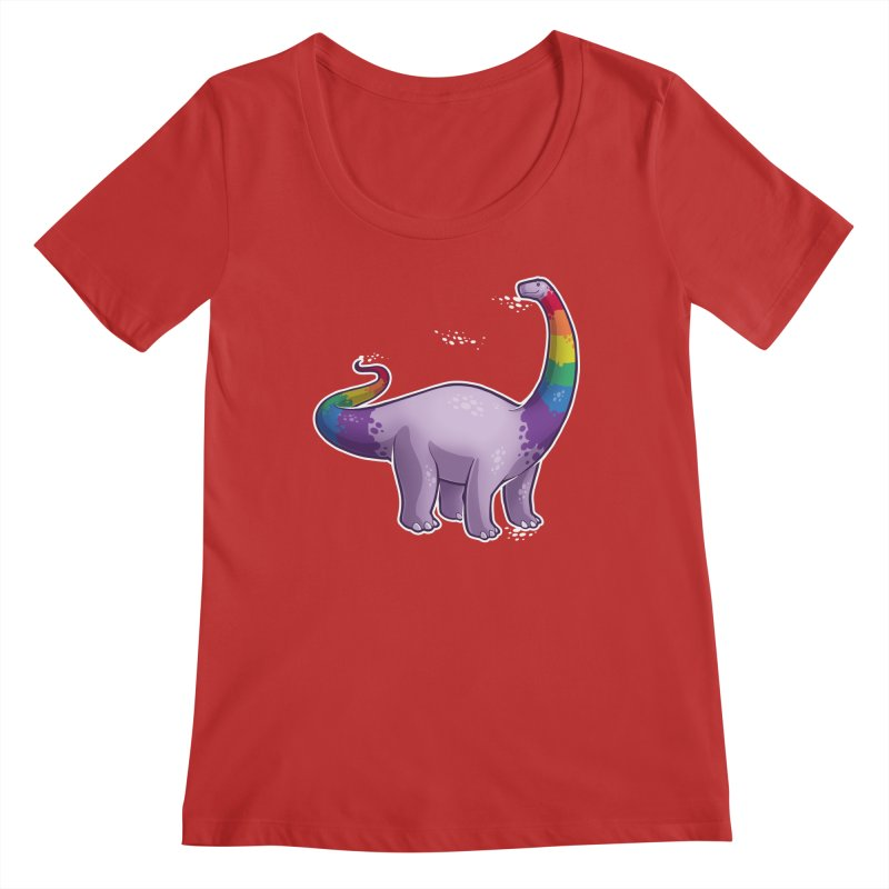 Brontosaurus Pride Women's Regular Scoop Neck by Marty's Artist Shop
