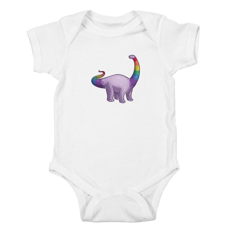Brontosaurus Pride Kids Baby Bodysuit by Marty's Artist Shop