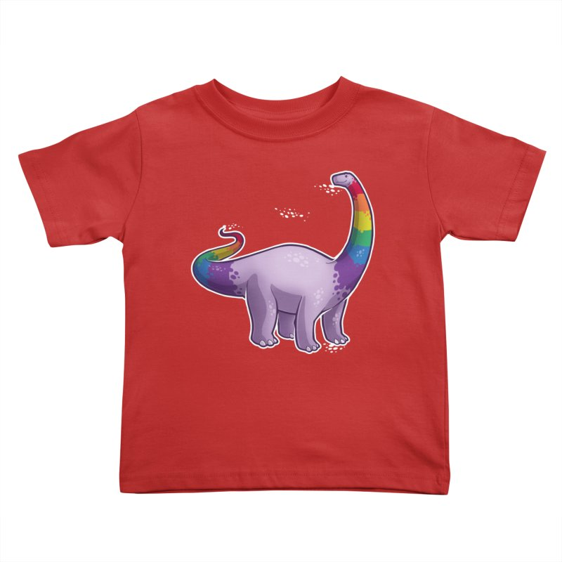 Brontosaurus Pride Kids Toddler T-Shirt by Marty's Artist Shop