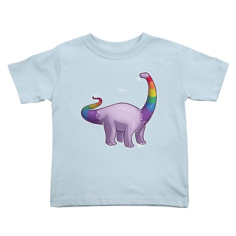 Brontosaurus Pride Kids Toddler T-Shirt by Marty's Artist Shop