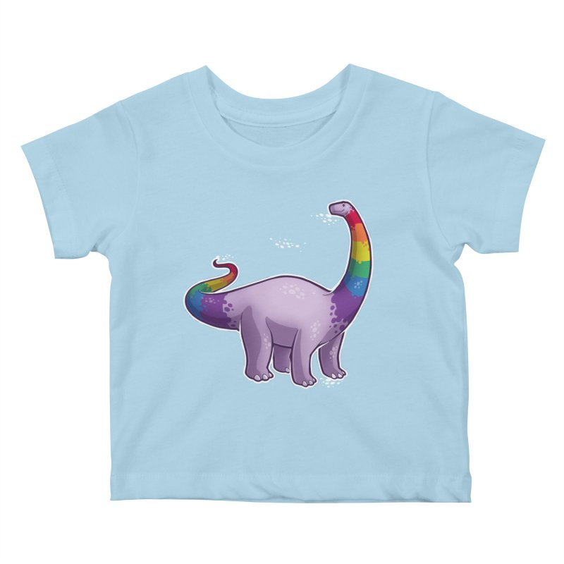 Brontosaurus Pride Kids Baby T-Shirt by Marty's Artist Shop