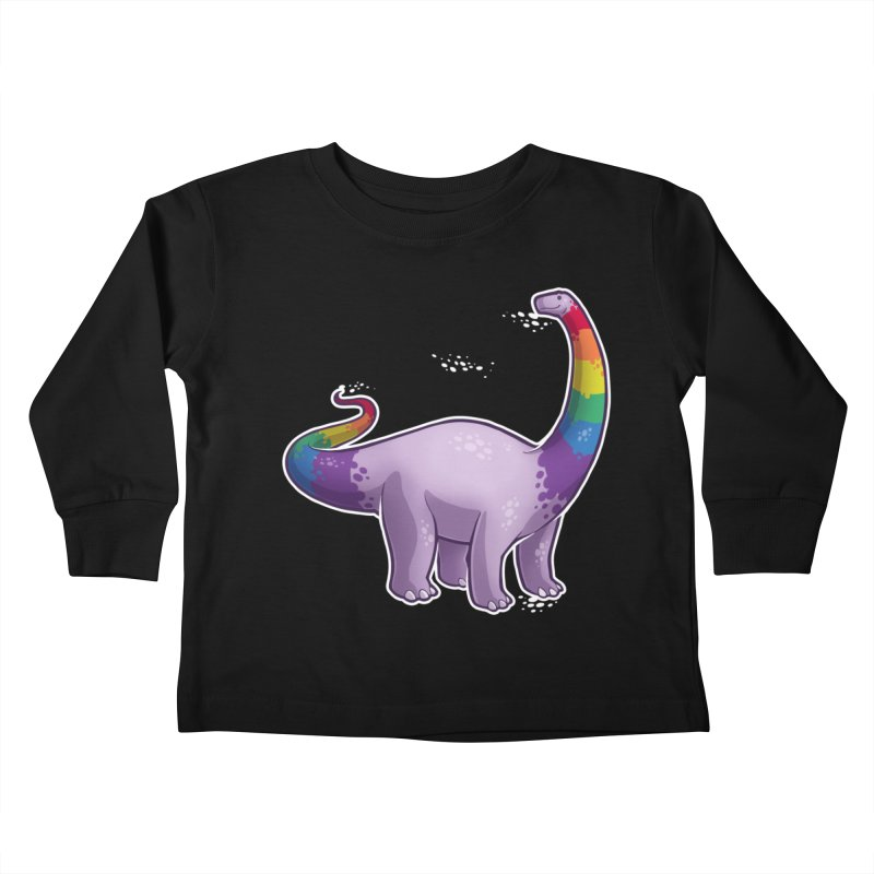 Brontosaurus Pride Kids Toddler Longsleeve T-Shirt by Marty's Artist Shop