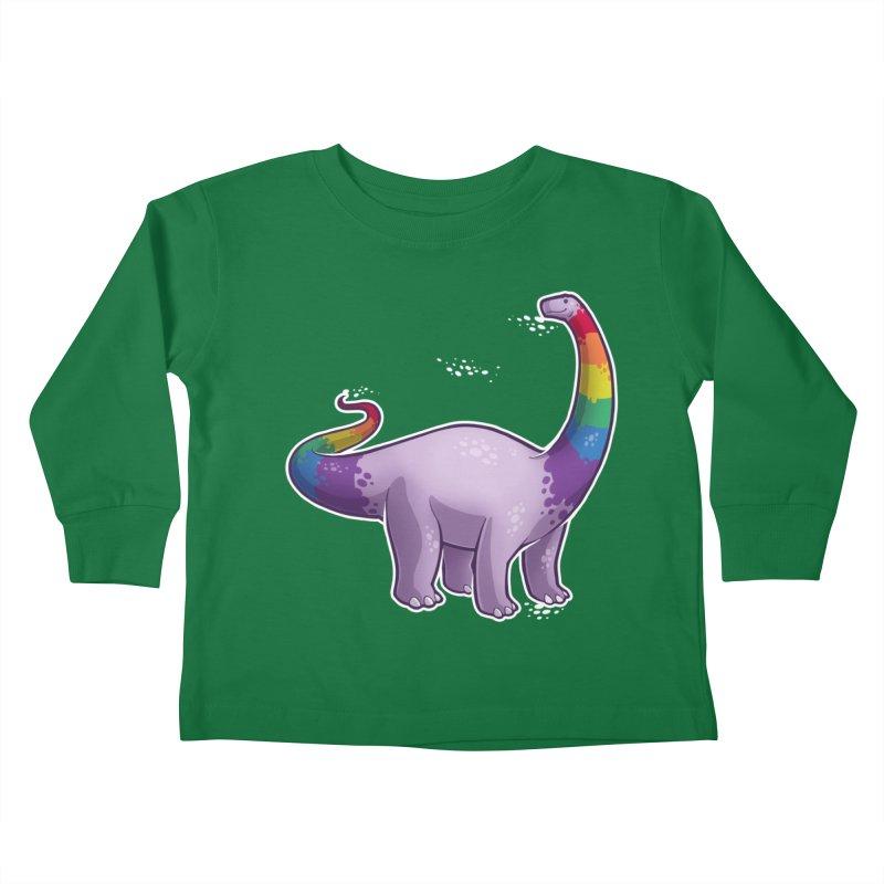 Brontosaurus Pride Kids Toddler Longsleeve T-Shirt by Marty's Artist Shop