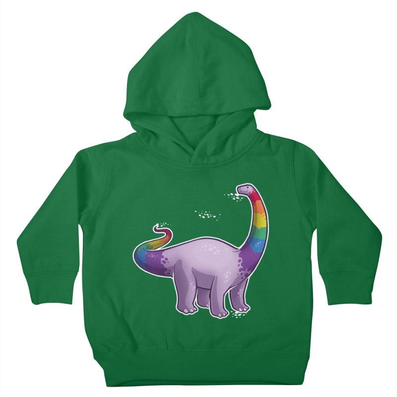 Brontosaurus Pride Kids Toddler Pullover Hoody by Marty's Artist Shop