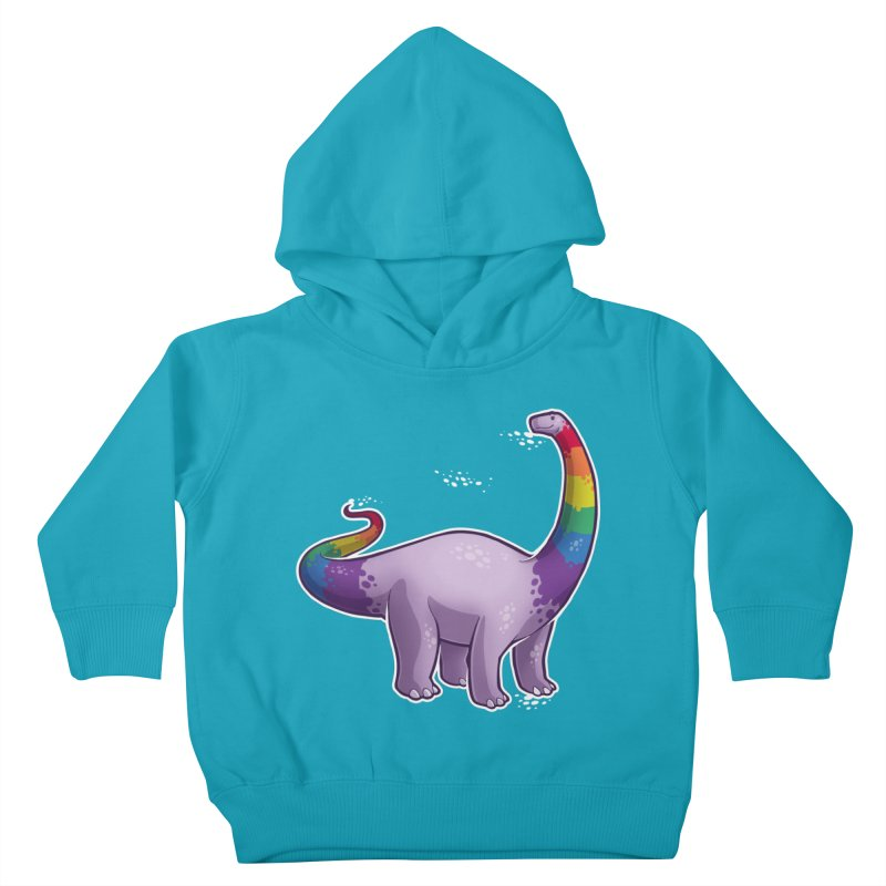 Brontosaurus Pride Kids Toddler Pullover Hoody by Marty's Artist Shop