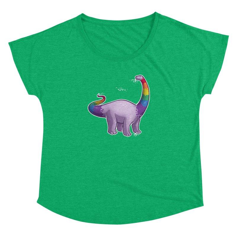 Brontosaurus Pride Women's Dolman Scoop Neck by Marty's Artist Shop