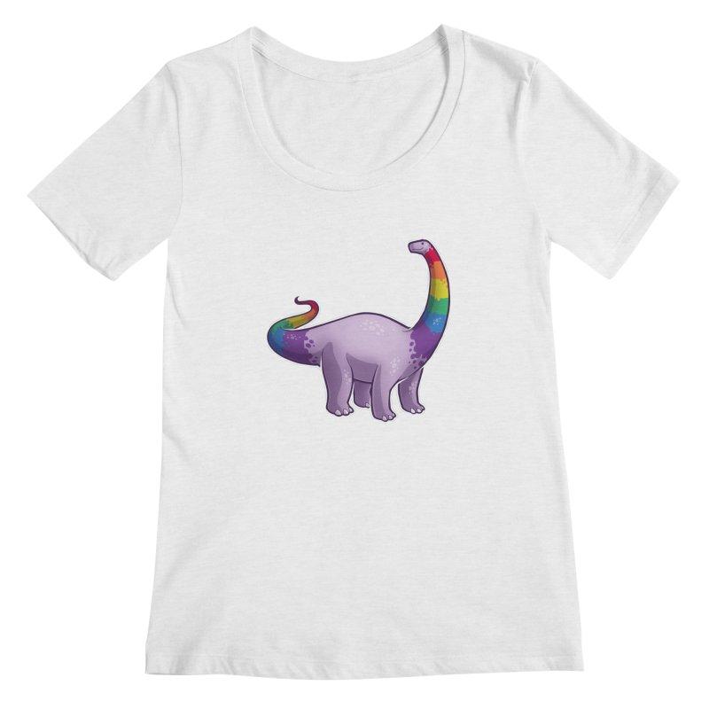 Brontosaurus Pride Women's Scoop Neck by Marty's Artist Shop