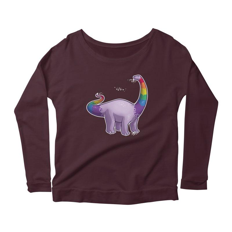 Brontosaurus Pride Women's Scoop Neck Longsleeve T-Shirt by Marty's Artist Shop