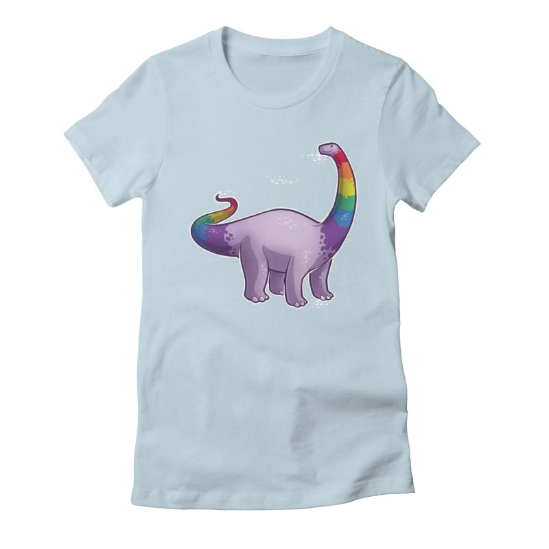 Brontosaurus Pride Women's Fitted T-Shirt by Marty's Artist Shop