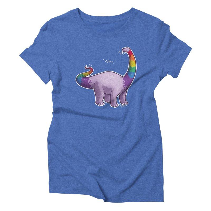 Brontosaurus Pride Women's Triblend T-Shirt by Marty's Artist Shop