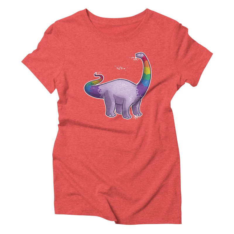 Brontosaurus Pride Women's Triblend T-Shirt by Marty's Artist Shop