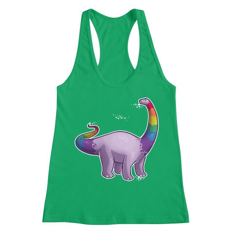 Brontosaurus Pride Women's Racerback Tank by Marty's Artist Shop