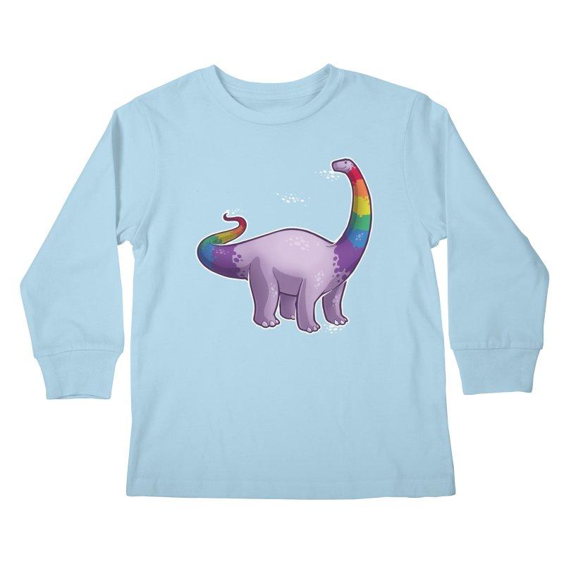 Brontosaurus Pride Kids Longsleeve T-Shirt by Marty's Artist Shop