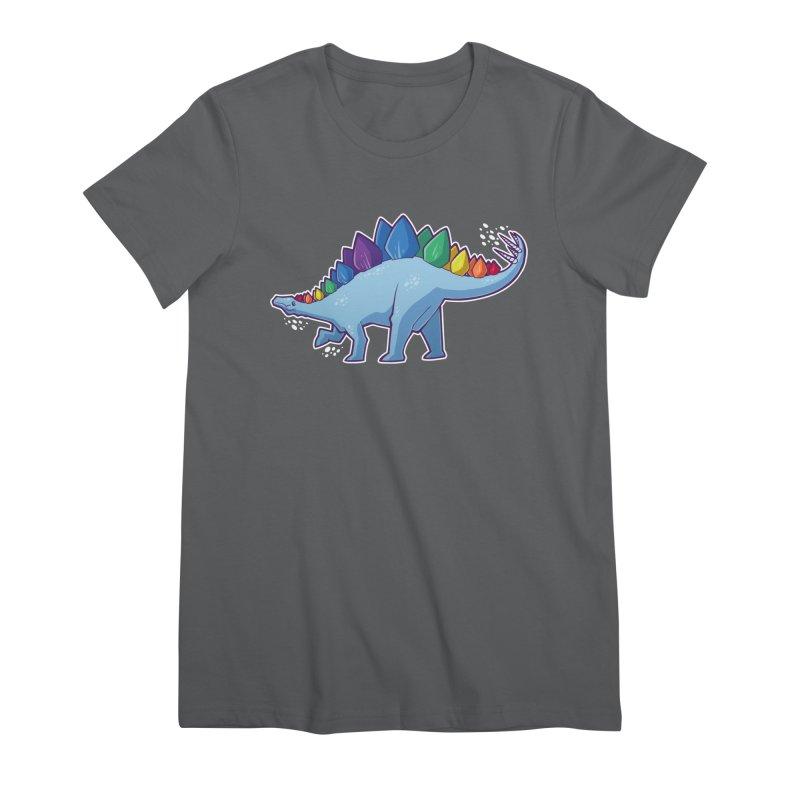 Stegosaurus Pride Women's Premium T-Shirt by Marty's Artist Shop