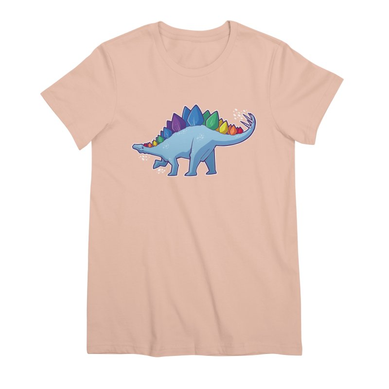 Stegosaurus Pride Women's T-Shirt by Marty's Artist Shop