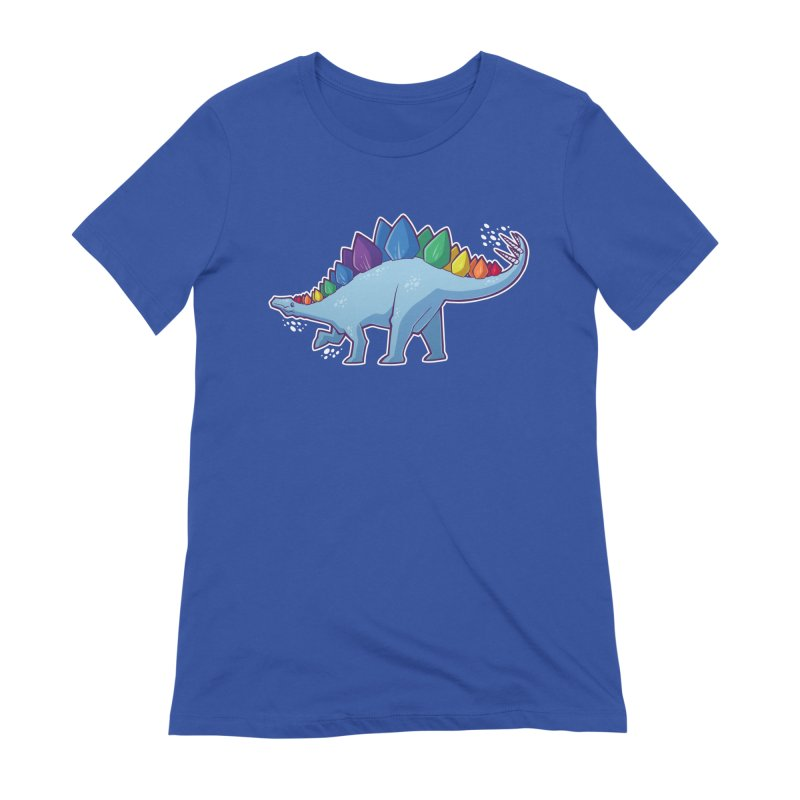 Stegosaurus Pride Women's Extra Soft T-Shirt by Marty's Artist Shop