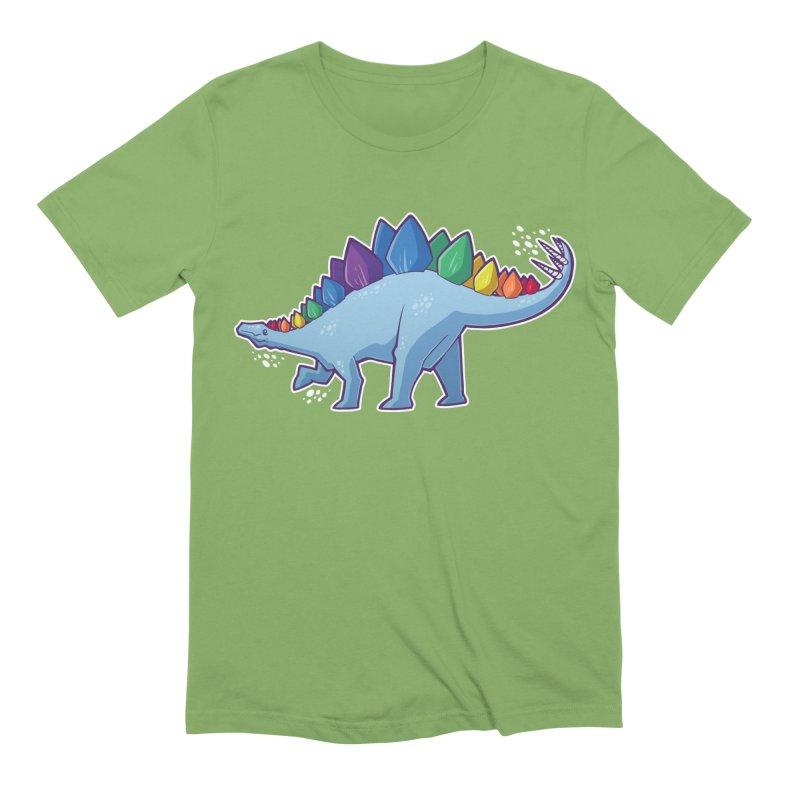Stegosaurus Pride Men's Extra Soft T-Shirt by Marty's Artist Shop