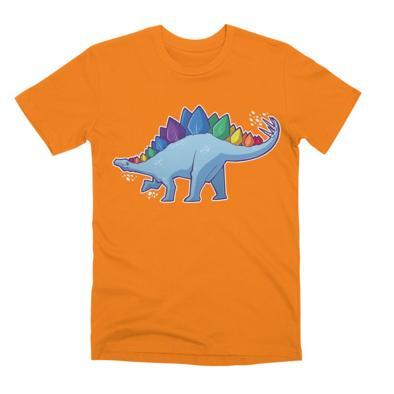 Stegosaurus Pride Men's T-Shirt by Marty's Artist Shop