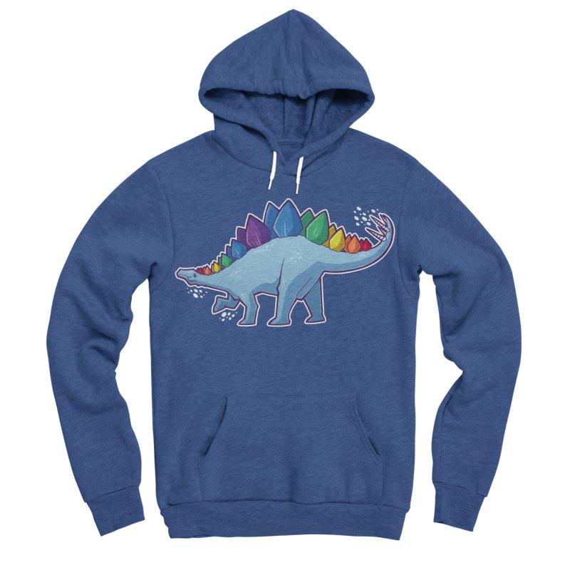 Stegosaurus Pride Men's Sponge Fleece Pullover Hoody by Marty's Artist Shop