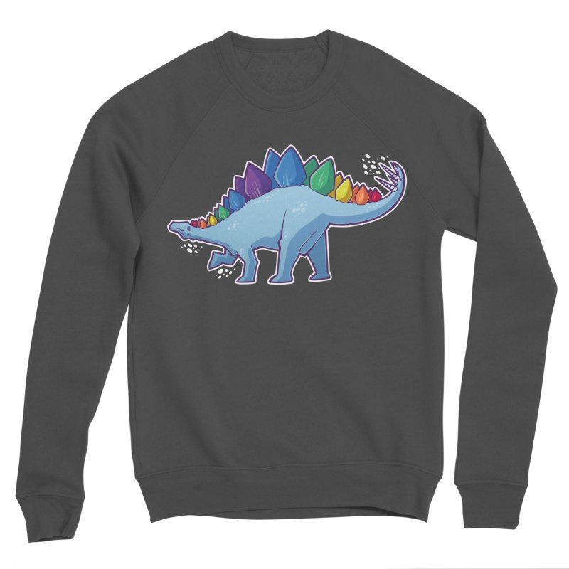 Stegosaurus Pride Men's Sweatshirt by Marty's Artist Shop