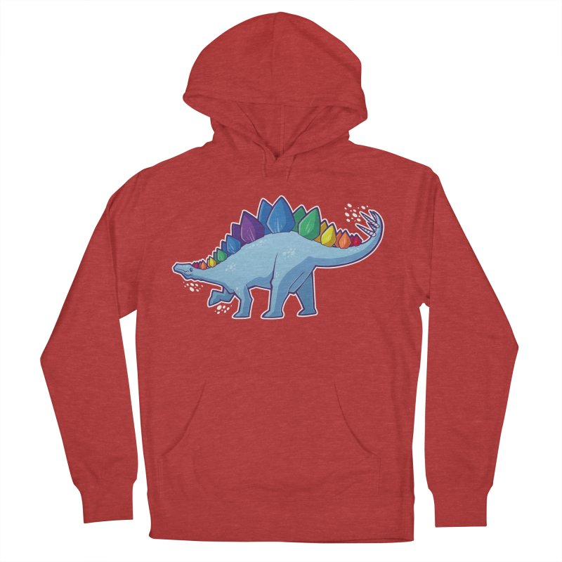 Stegosaurus Pride Women's French Terry Pullover Hoody by Marty's Artist Shop