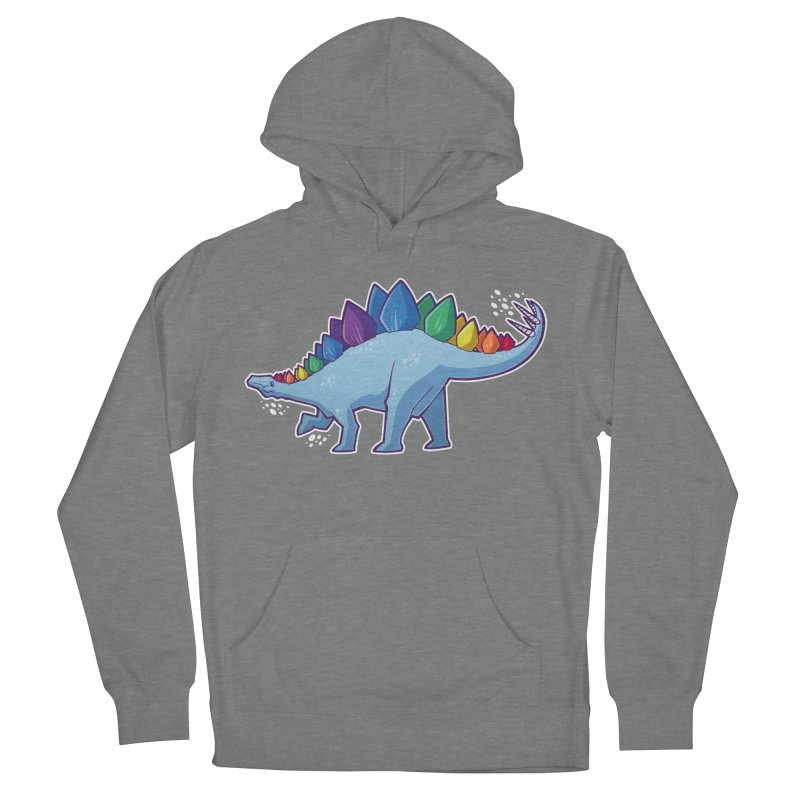 Stegosaurus Pride Men's French Terry Pullover Hoody by Marty's Artist Shop