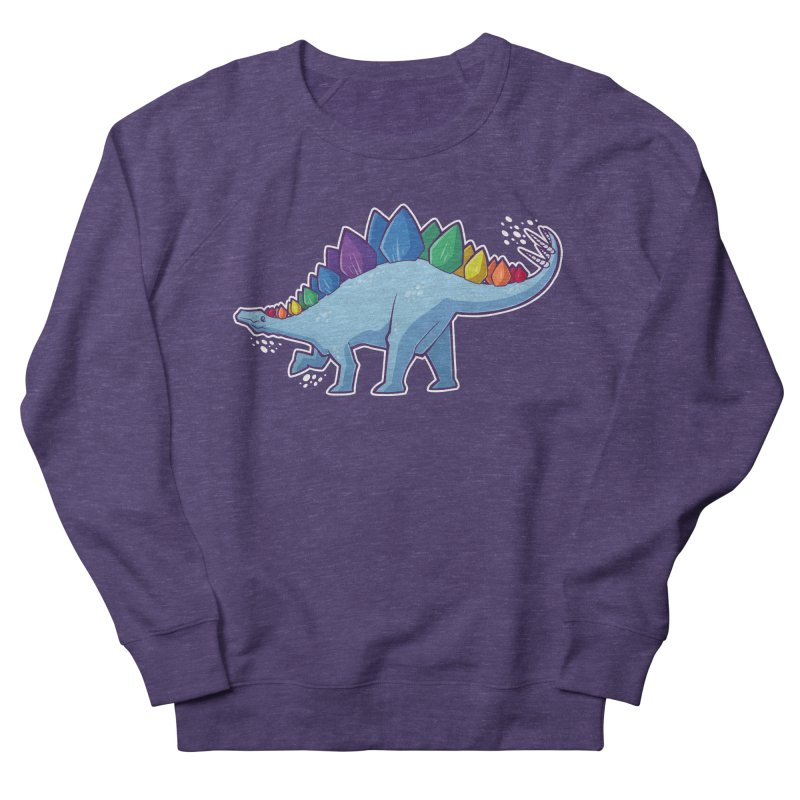 Stegosaurus Pride Men's French Terry Sweatshirt by Marty's Artist Shop