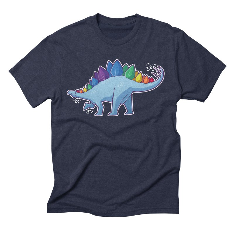Stegosaurus Pride Men's Triblend T-Shirt by Marty's Artist Shop