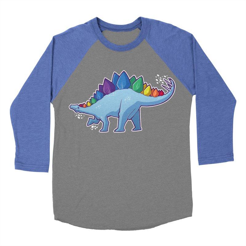 Stegosaurus Pride Men's Baseball Triblend Longsleeve T-Shirt by Marty's Artist Shop