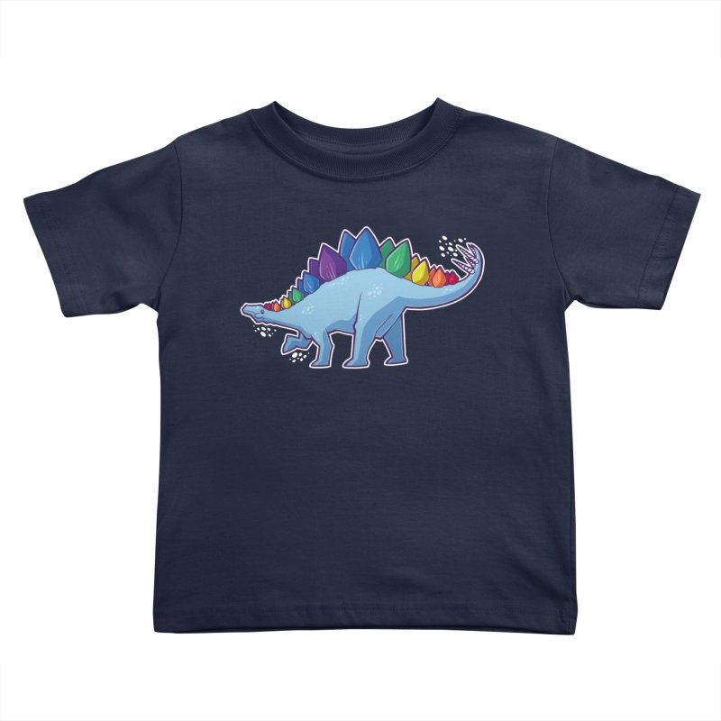 Stegosaurus Pride Kids Toddler T-Shirt by Marty's Artist Shop