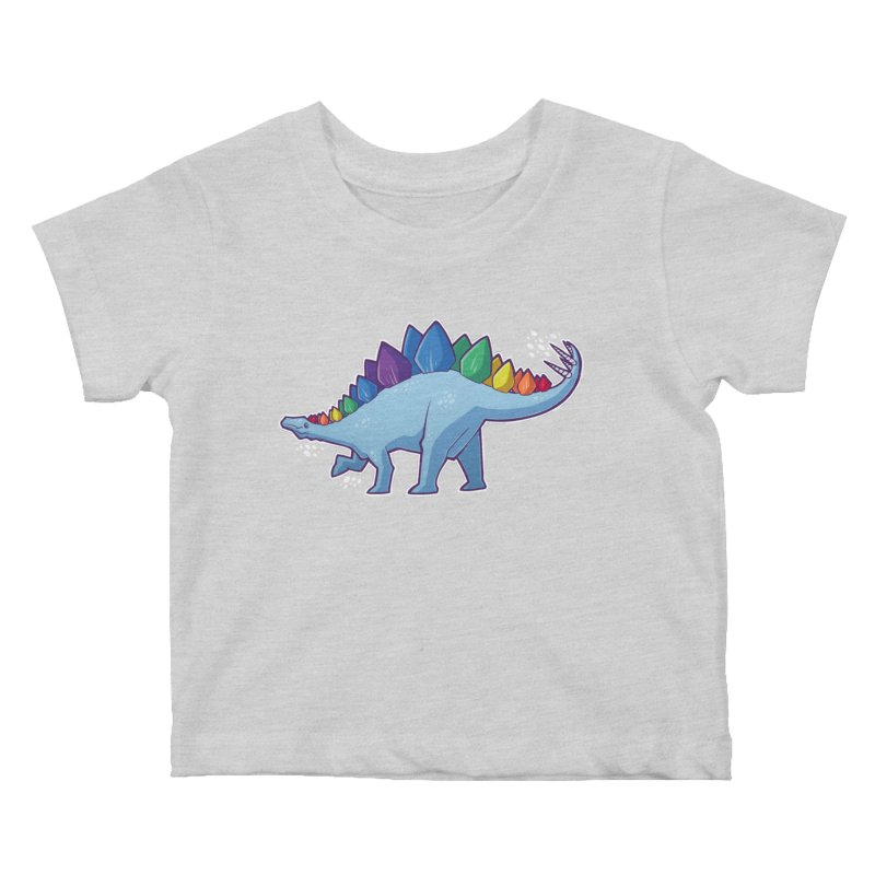Stegosaurus Pride Kids Baby T-Shirt by Marty's Artist Shop