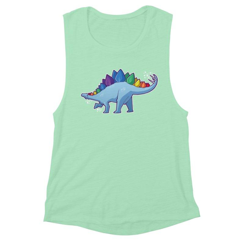 Stegosaurus Pride Women's Muscle Tank by Marty's Artist Shop