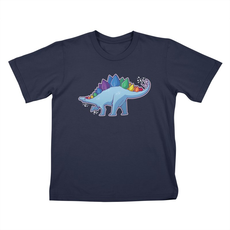 Stegosaurus Pride Kids T-Shirt by Marty's Artist Shop