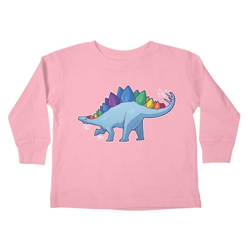 Stegosaurus Pride Kids Toddler Longsleeve T-Shirt by Marty's Artist Shop