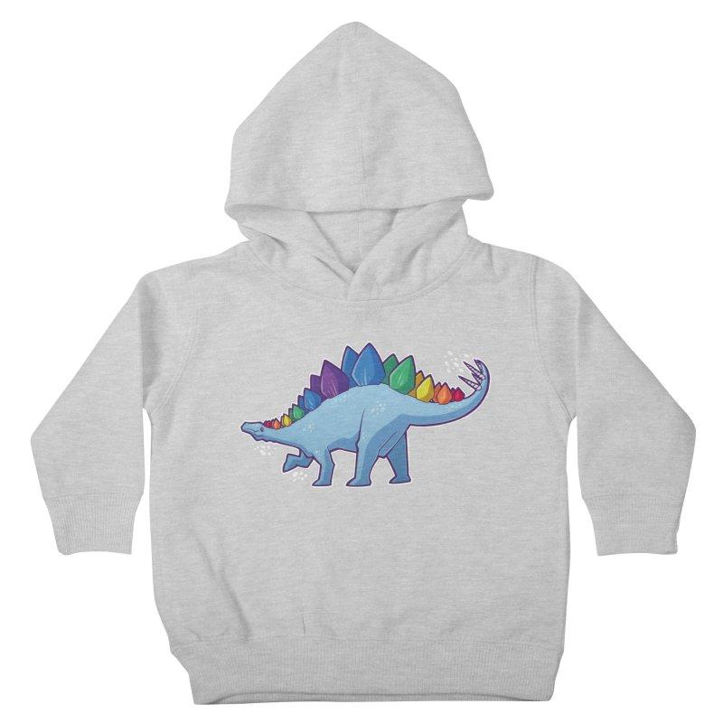 Stegosaurus Pride Kids Toddler Pullover Hoody by Marty's Artist Shop