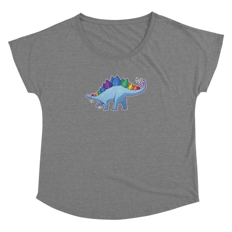 Stegosaurus Pride Women's Dolman Scoop Neck by Marty's Artist Shop
