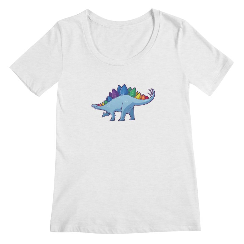 Stegosaurus Pride Women's Regular Scoop Neck by Marty's Artist Shop