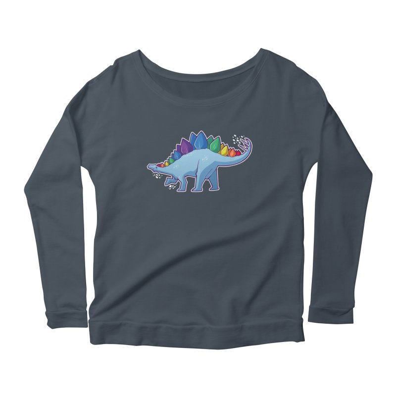 Stegosaurus Pride Women's Scoop Neck Longsleeve T-Shirt by Marty's Artist Shop