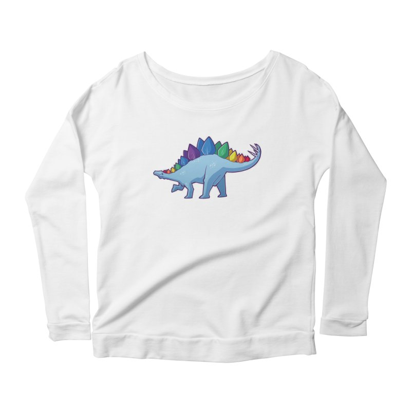 Stegosaurus Pride Women's Longsleeve T-Shirt by Marty's Artist Shop